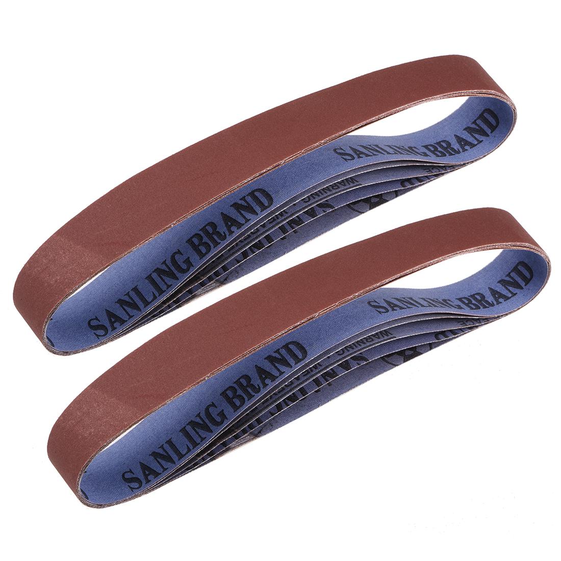 1.2 x 21 Inch Sanding Belts 600 Grit Aluminum Oxide Sand Belts 10pcs