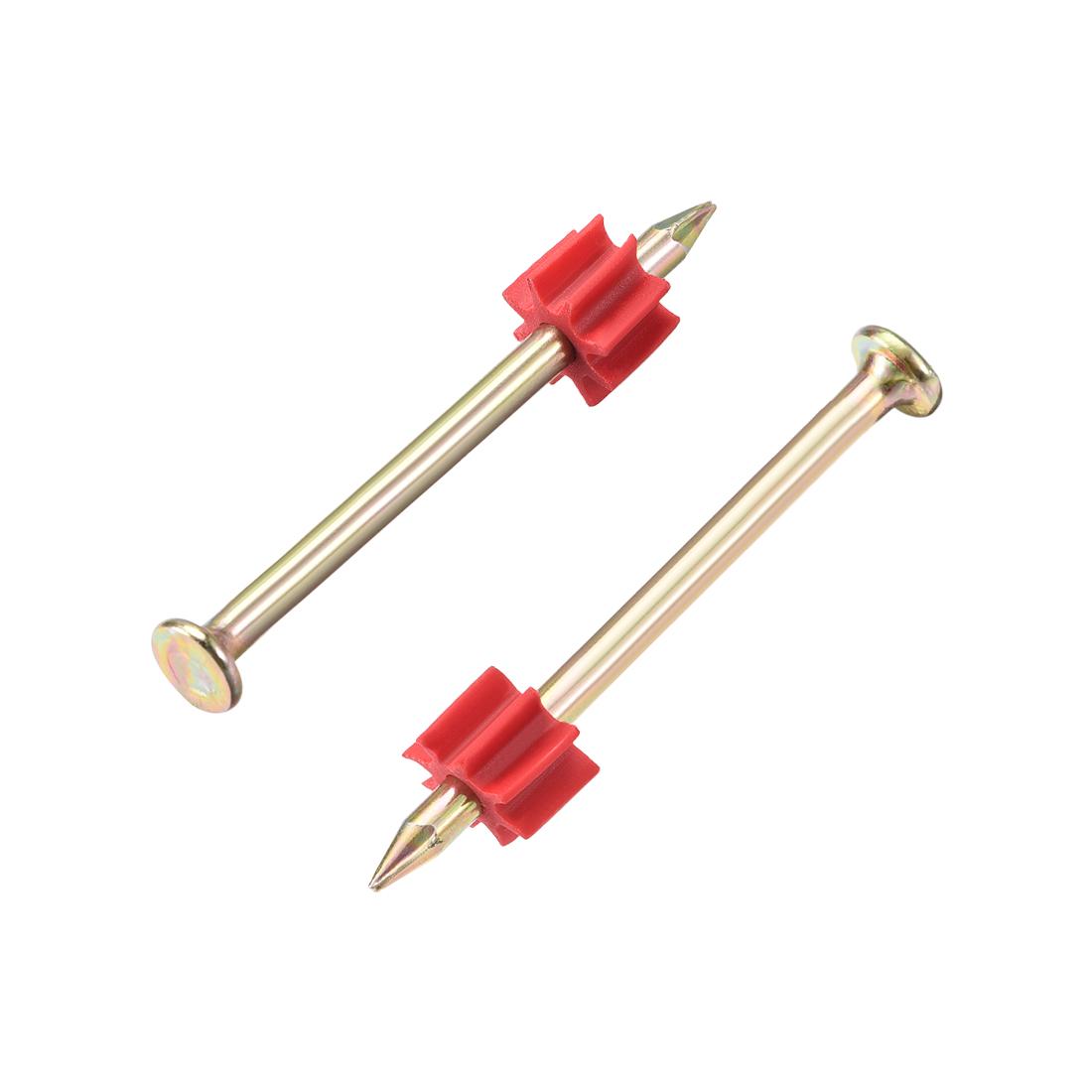 Powder Fastening System Fastener Nail Kit Washer Drive Pins 40mmx3mm 100pcs