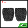 Pair Black Rubber Brake Clutch Pedal Pad Cover for Nissan Qashqai 46531JD00A