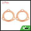 2pcs 2-1/2inch Exhaust Pipe Copper Header Car Engine Collector Gasket Seal 2.5""