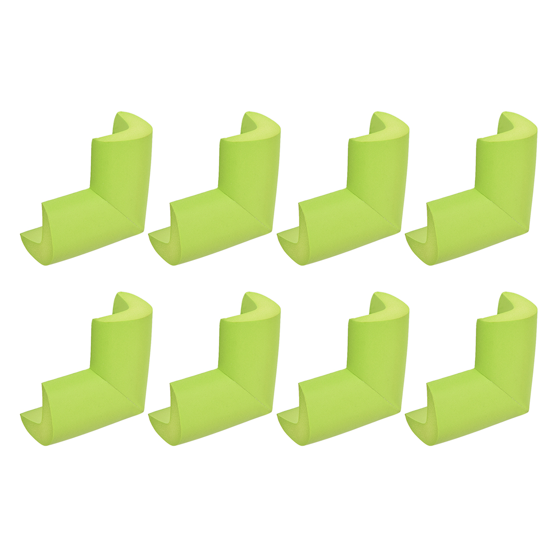 Corner Table Edge Guard Angle Cushion Protective Pad 50 x 35 x 15mm Green 8pcs