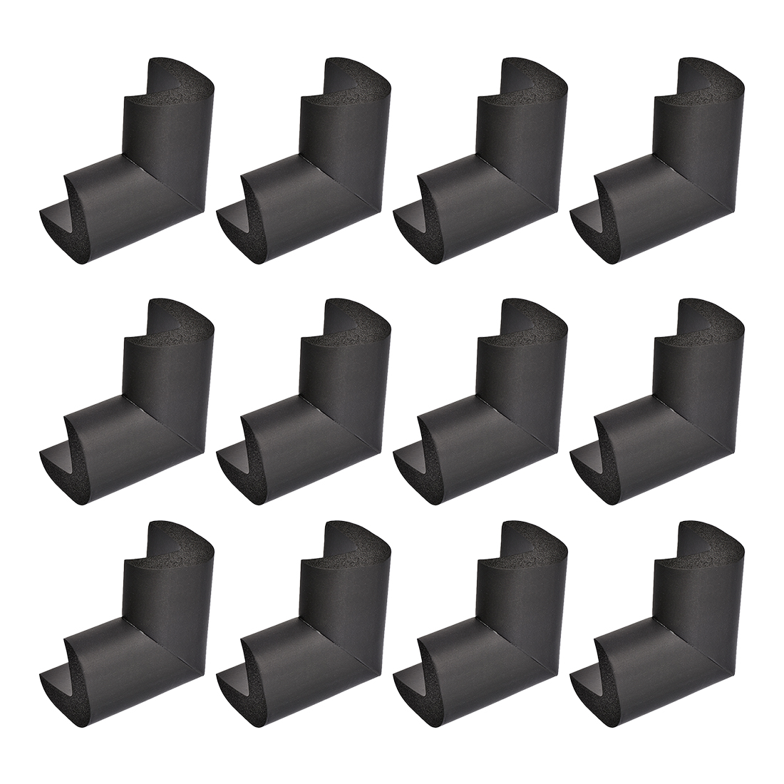Corners Table Edge Guard Angle Corner Protective Pad 50 x 35 x 15mm Black 12pcs