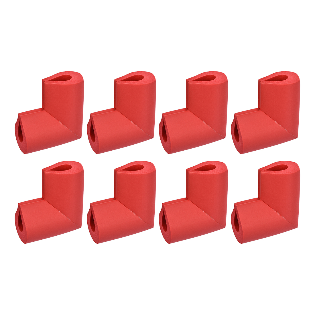 Corners Table Edge Guard U Shaped Angle Corner Guards 50 x 38 x 8mm Red 8pcs