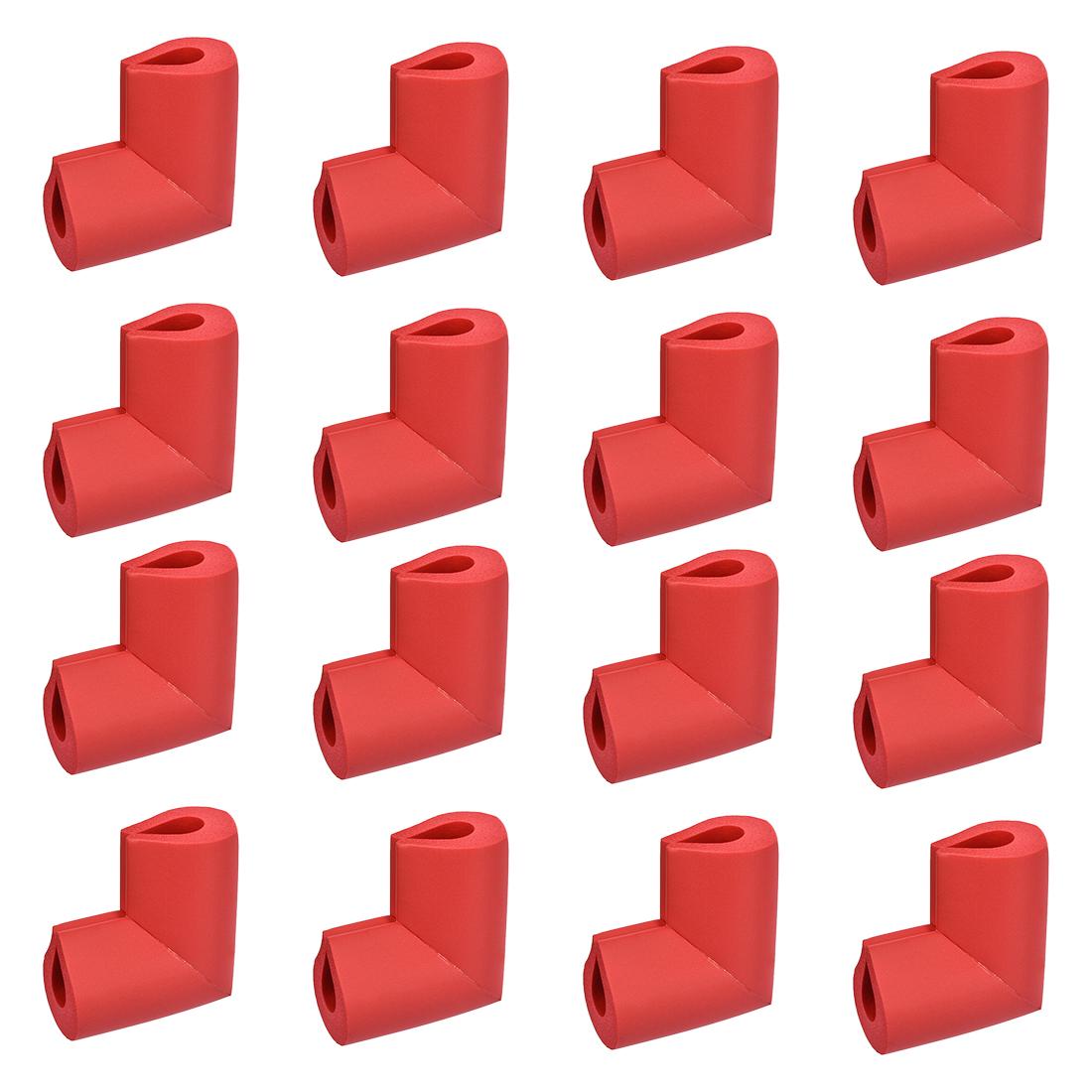 Corners Table Edge Guard U Shaped Angle Corner Guards 50 x 38 x 8mm Red 16pcs
