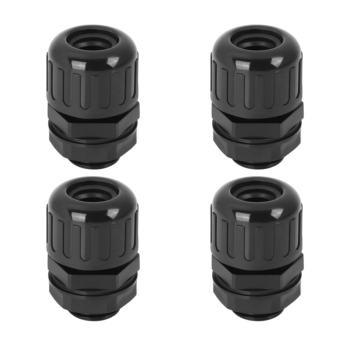4pcs Cable Gland Black Waterproof Wire Gland Corrugated Tube Connectors AD15.8