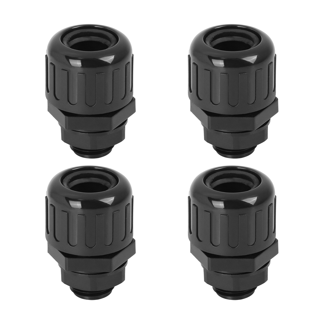 Cable Gland Waterproof Nylon Plastic Connectors with Lock Nut and Gaskets 4pcs