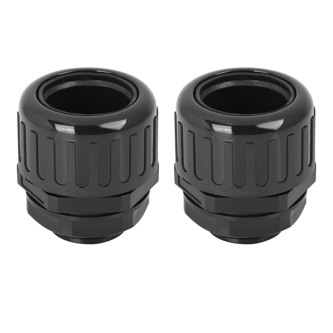Cable Gland Nylon Plastic Connectors with Lock Nut and Gaskets M25x1.5 2pcs