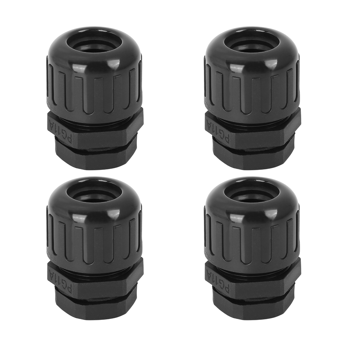 Cable Gland Nylon Plastic Connectors with Lock Nut and Gaskets M18x1.5 4pcs