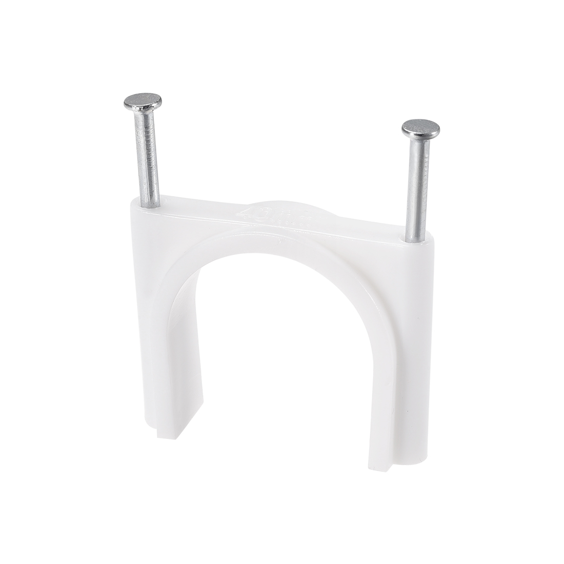 40mm Round White Wire Clips Clamps Cable Holder Fastener with Nail 12Pcs