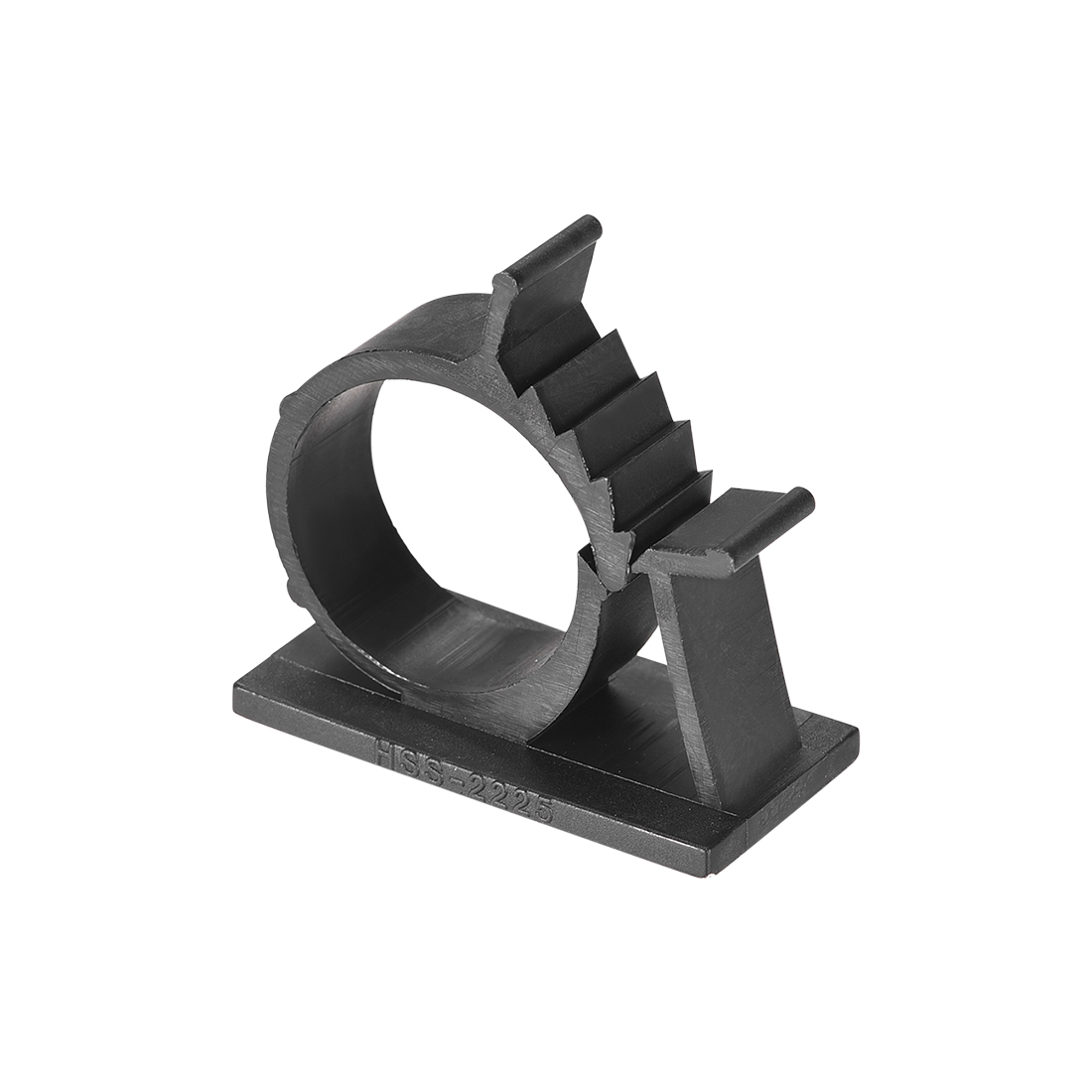 Adjustable Black Cable Clips Buckle Adhesive Base for 20mm-24mm Cords 50Pcs