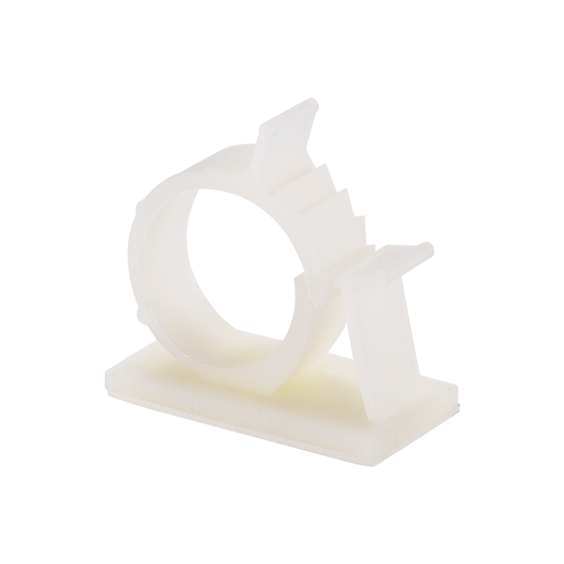 Adjustable White Cable Clips Buckle Adhesive Base for 20mm-24mm Cords 20Pcs