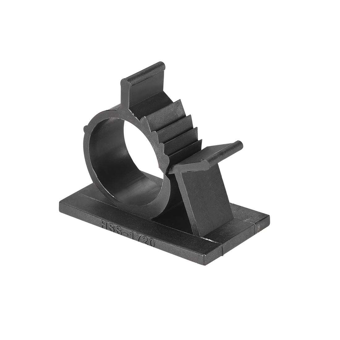 Adjustable Black Cable Clips Buckle Adhesive Base for 15mm-19mm Cords 50Pcs