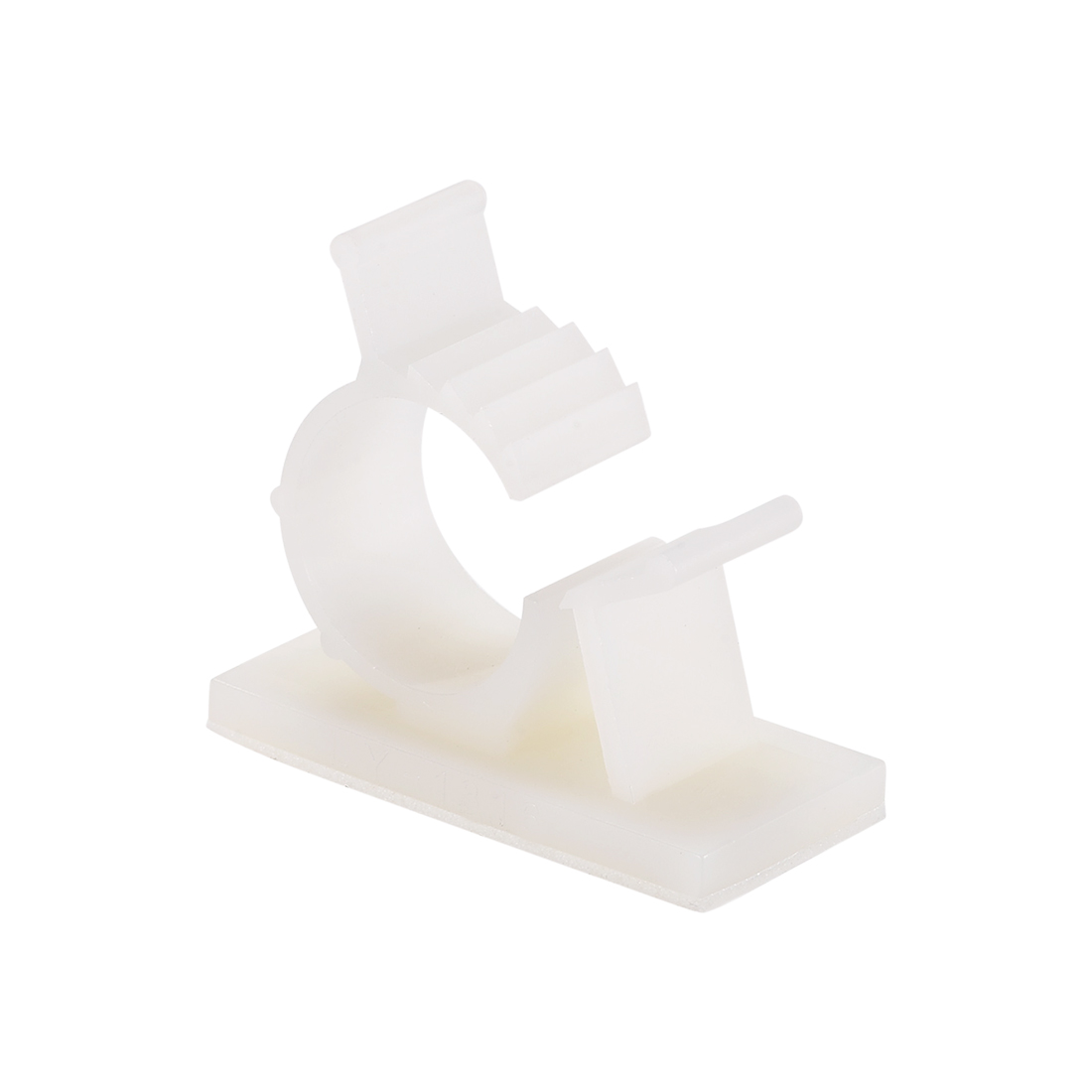 Adjustable White Cable Clips Buckle Adhesive Base for 12.6-15.4mm Cords 30Pcs