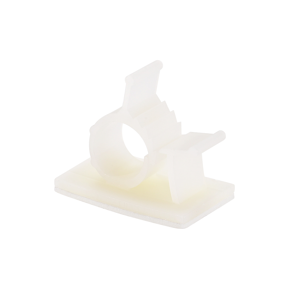 Adjustable White Cable Clips Buckle Adhesive Base for 10-12.5mm Cords 20Pcs