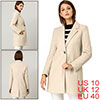 Allegra K Women's Classic Notched Lapel Long Sleeve Long Coat Beige M