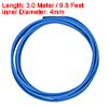 Insulation Braided Sleeve, 9.8Ft-4mm High TEMP Silicone Fiberglass Sleeve Blue