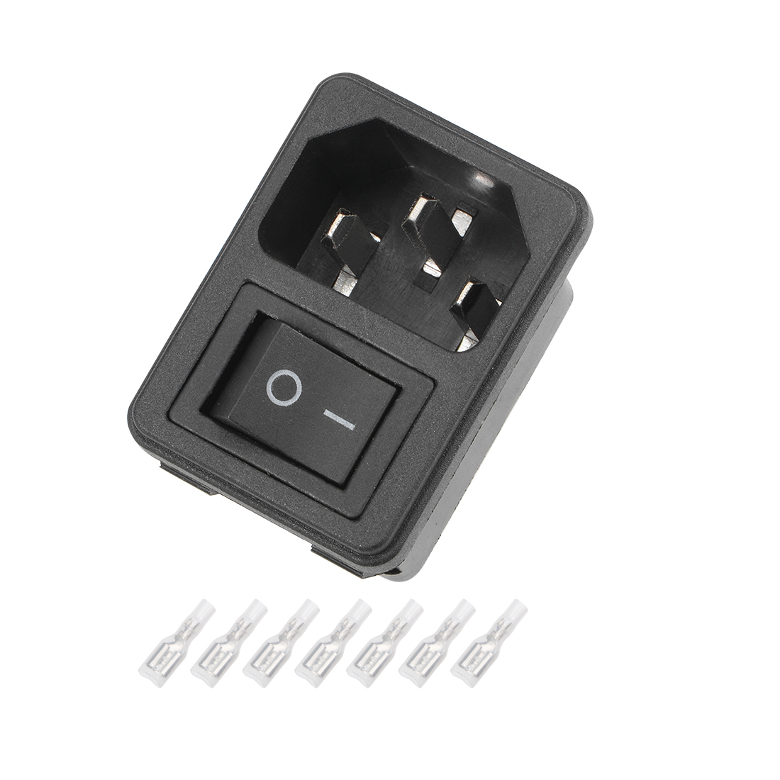 1Set 41x30x28mm Plug 4Pin 2Position Switch with Terminal and Protective Sleeve