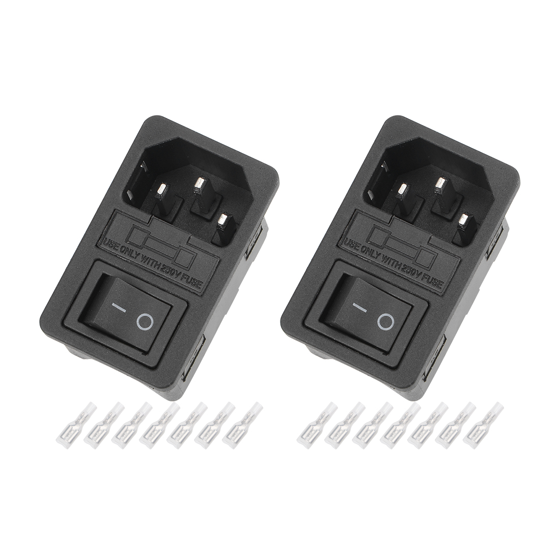 2Set 50x30.5x30m Plug 4Pin 2Position Led Switch w Terminal and Protective Sleeve