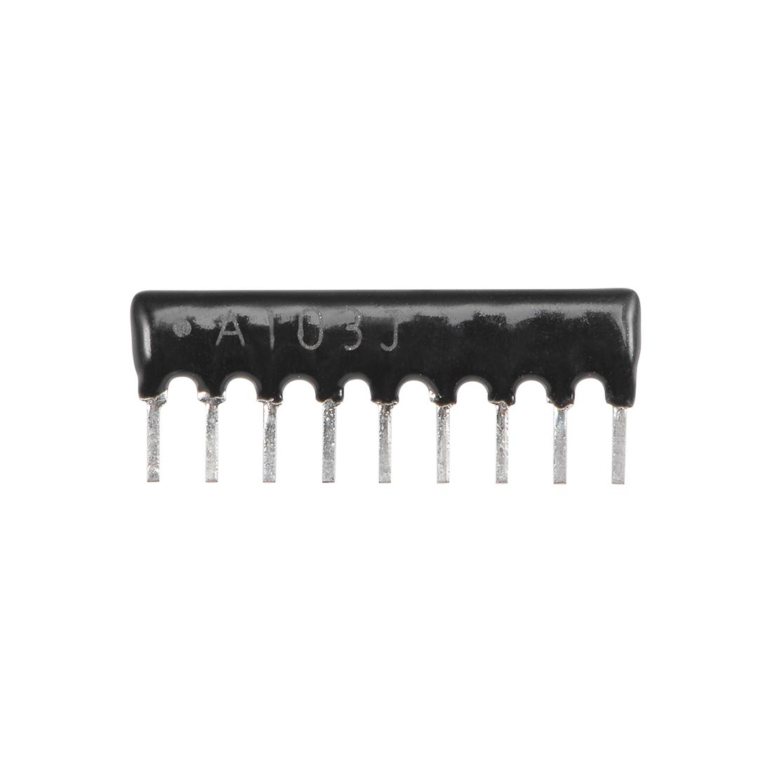 10K Ohm Resistor Network 1/8W SIP-9 Array 2.54mm Bussed Type 5% Tolerance 20pcs