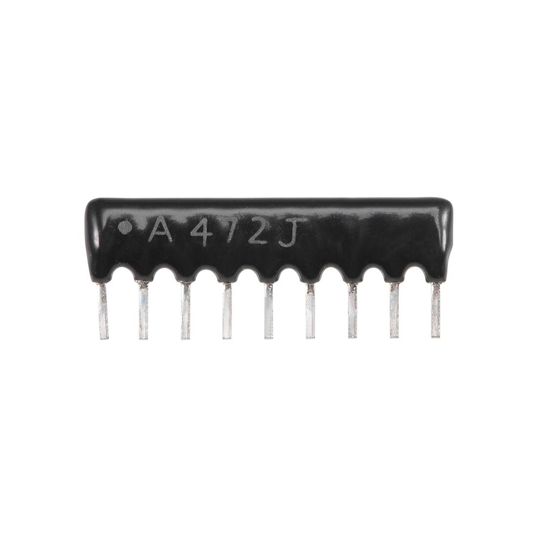 4.7K Ohm Resistor Network 1/8W SIP-9 Array 2.54mm Bussed Type 5% Tolerance 10pcs