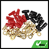 Car 10 Positive and 10 Negative 4 Gauge AWG Crimp Ring Terminals Connectors Kit