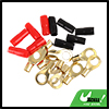 Car 5 Positive and 5 Negative 8 Gauge AWG Crimp Ring Terminals Connectors Kit