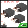 3pcs 4 Pin DC 24V 40A Universal Oil Pump Power Relay Switch for Car Vehicle Auto