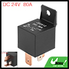 4 Pin DC 24V 80Amp Universal Car Vehicle Relay Switch Power Starter Black
