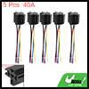 5pcs 5 Pin 40A Universal Relay Switch Socket Plug 5 Wires 12.5cm for Car Vehicle