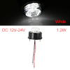 Round 7 LED White Light Truck Side Marker Indicators Light Clearance Lamp