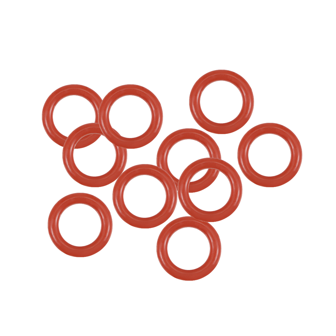 Silicone O-Rings 5.5mm OD 3.5mm Inner Diameter, 1mm Width, Seal Gasket Red 10Pcs