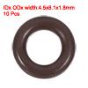 Fluorine Rubber O-Rings 8.1mm OD 4.5mm ID 1.8mm Width Seal Gasket Brown 10pcs