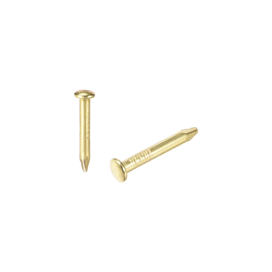 Small Tiny Nails 1.5X10mm for DIY Decorative Accessories Gold Tone 300pcs