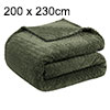 "New Luxury Leaves Fleece Warm Extra Large Sofa Blankets 78"" x 90"" Army Green"