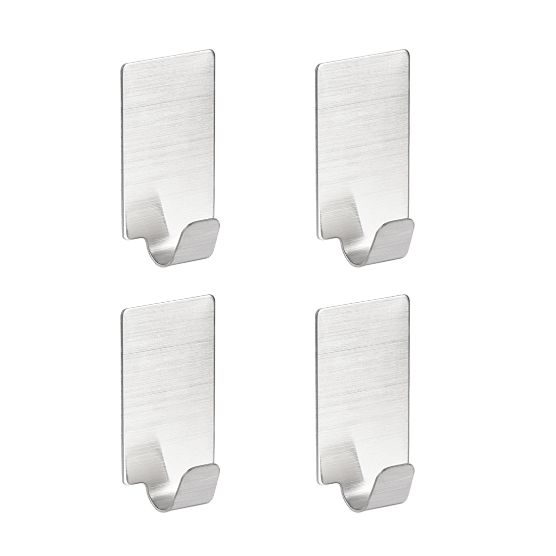 Wall Hooks Self Adhesive Hooks Stainless Steel Hanging Hooks For Kitchen , 4Pcs