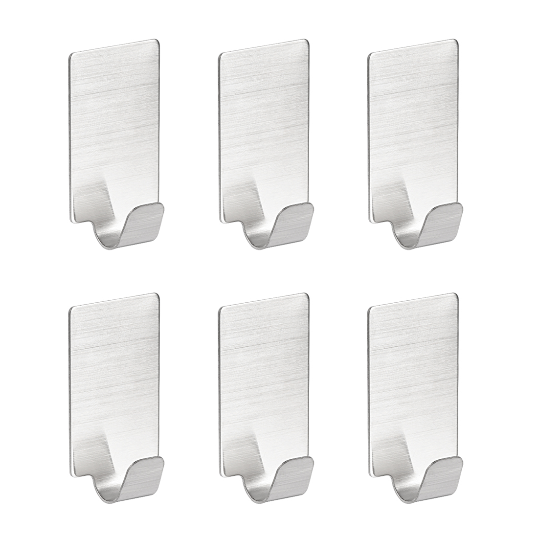 Wall Hooks Self Adhesive Hooks Stainless Steel Hanging Hooks For Kitchen , 6Pcs