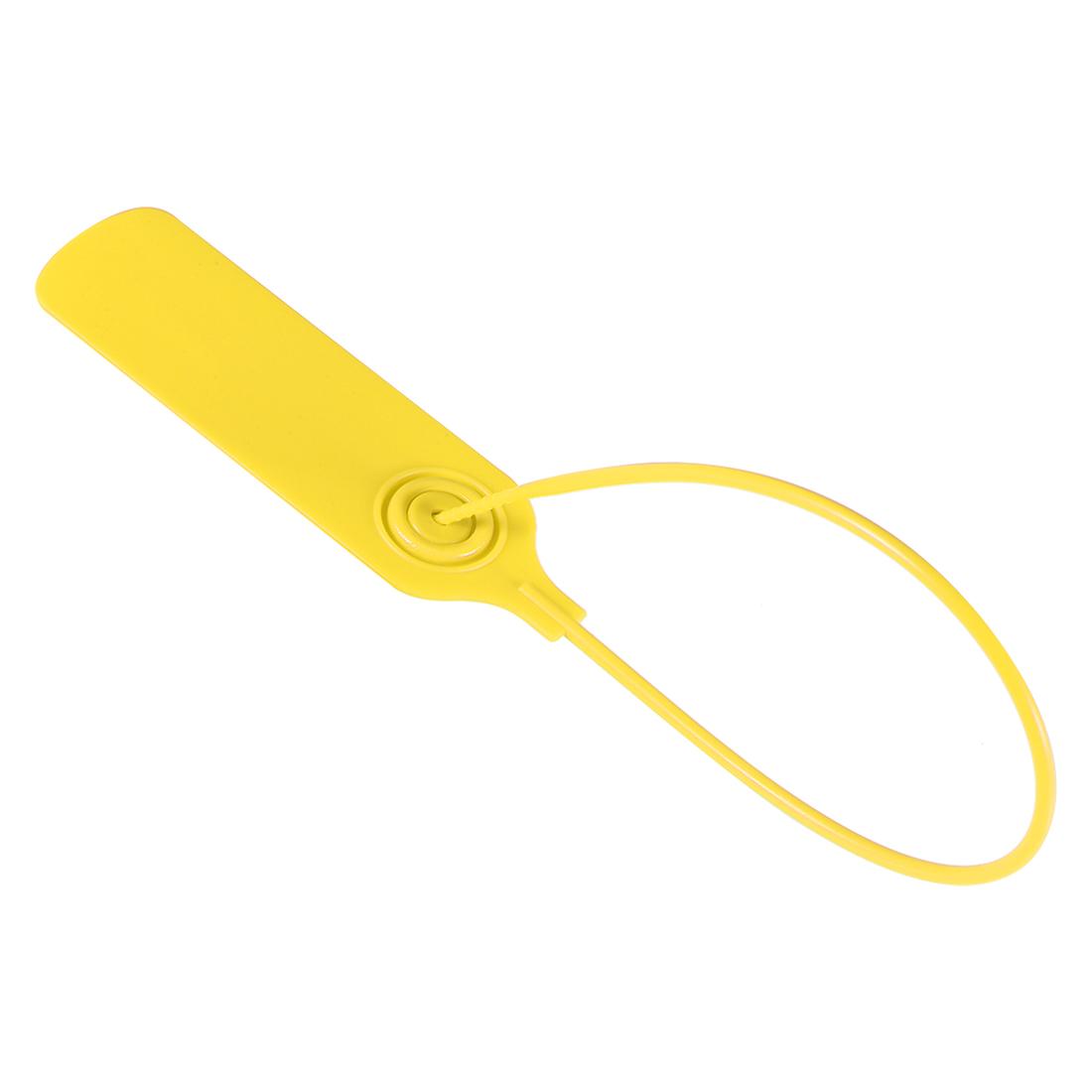 Plastic Zip Ties Seals Anti-Tamper 300mm Length, Yellow, Pack of 20
