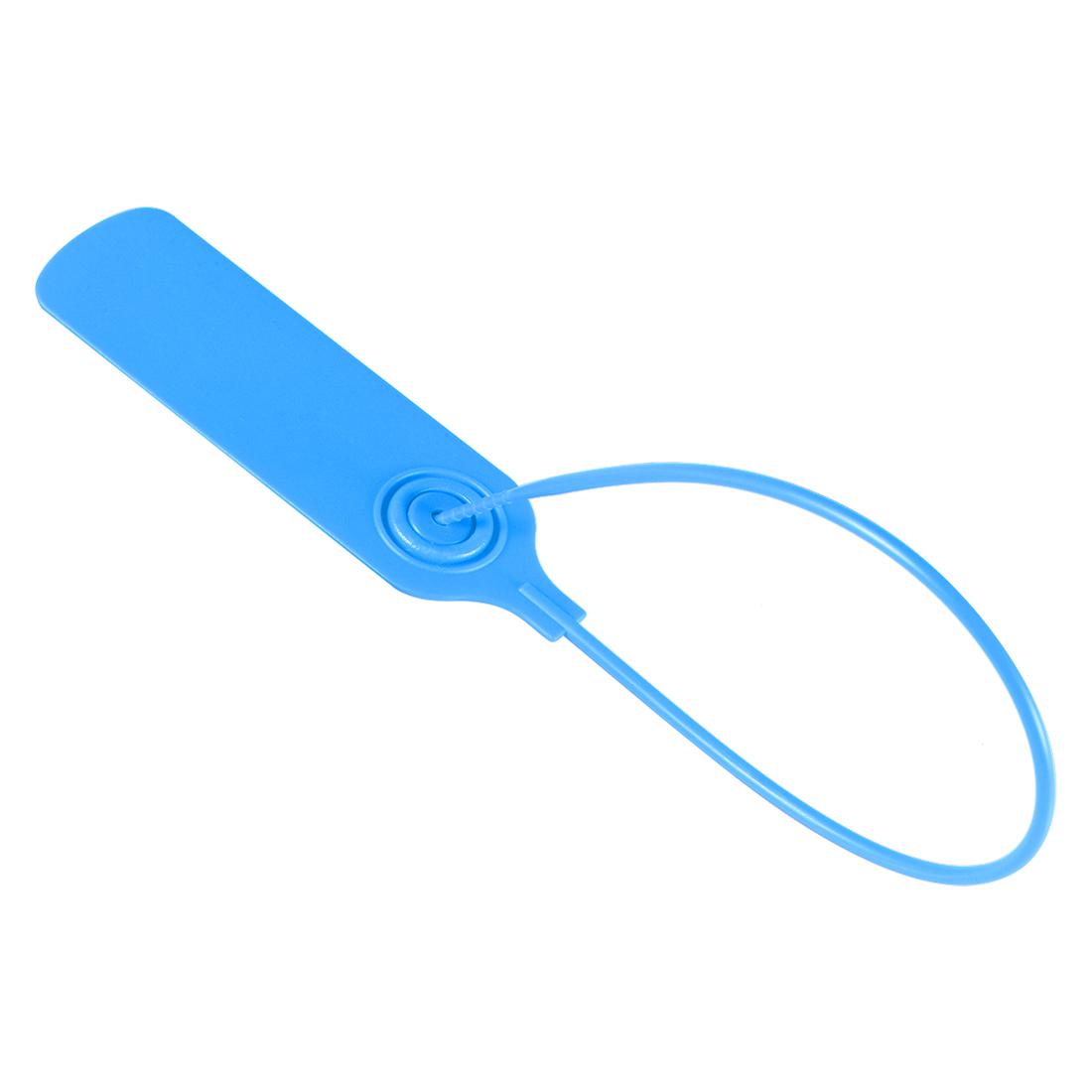 Plastic Zip Ties Seals Anti-Tamper 300mm Length, Blue, Pack of 20