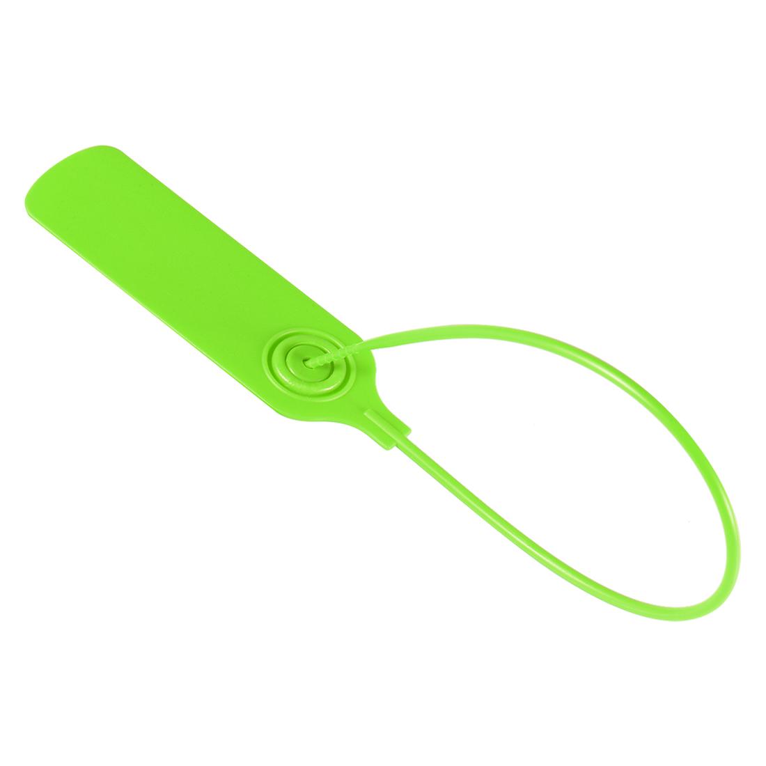 Plastic Zip Ties Seals Anti-Tamper 300mm Length, Green, Pack of 50