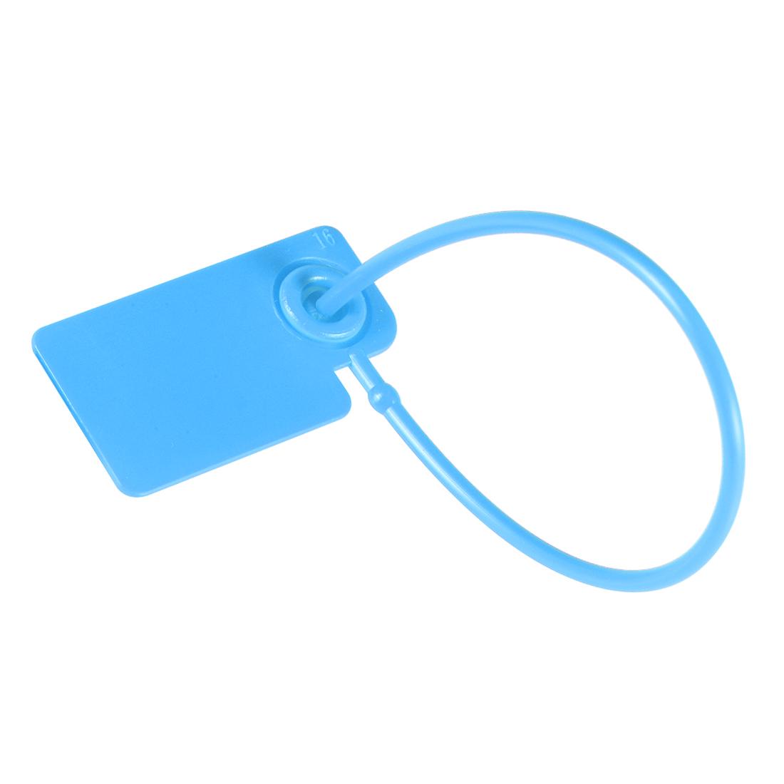 Plastic Zip Ties Seals Anti-Tamper 165mm Length, Blue, Pack of 100