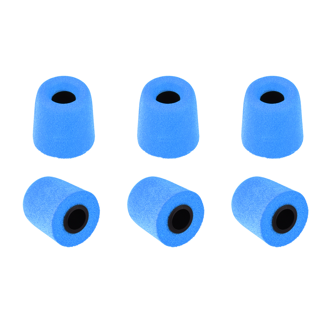 Memory Foam Earbuds Earphone Noise Reducing Fit for 4-4.7mm Nozzle Blue S 6pcs