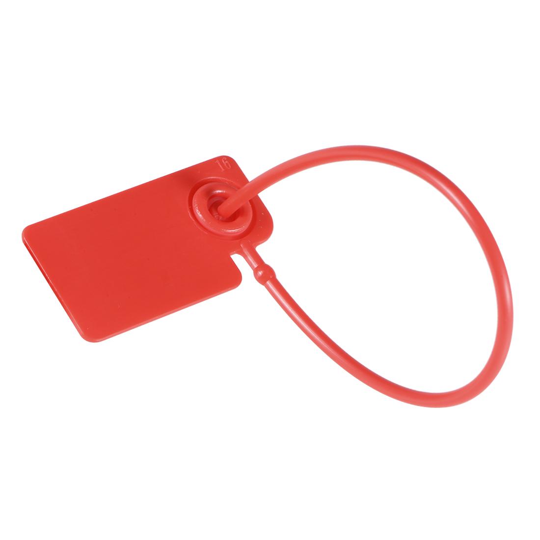 Plastic Zip Ties Security Tags Anti-Tamper 165mm Length,Red,Pack of 50