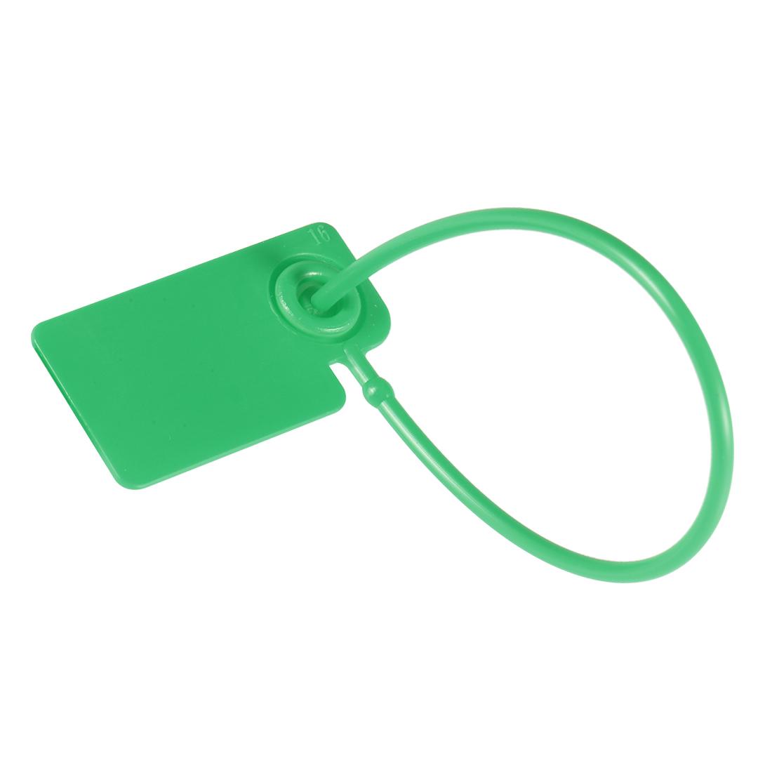 Plastic Zip Ties Security Tags Anti-Tamper 165mm Length, Green, 20pcs