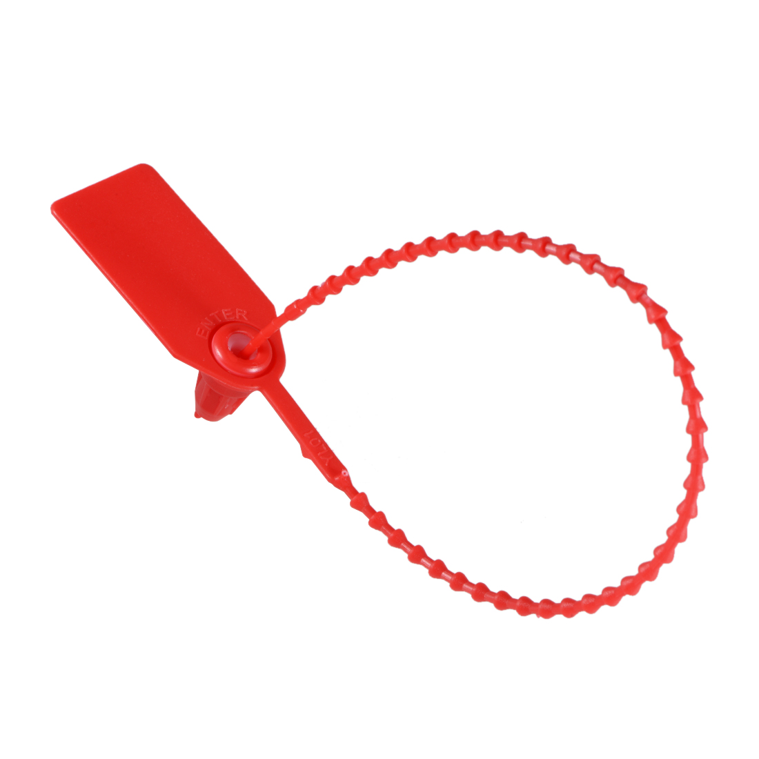 Plastic Zip Ties Seals Anti-Tamper 246mm Length, Red, Pack of 50