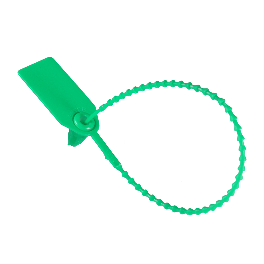 Plastic Zip Ties Seals Anti-Tamper 246mm Length, Green, Pack of 20