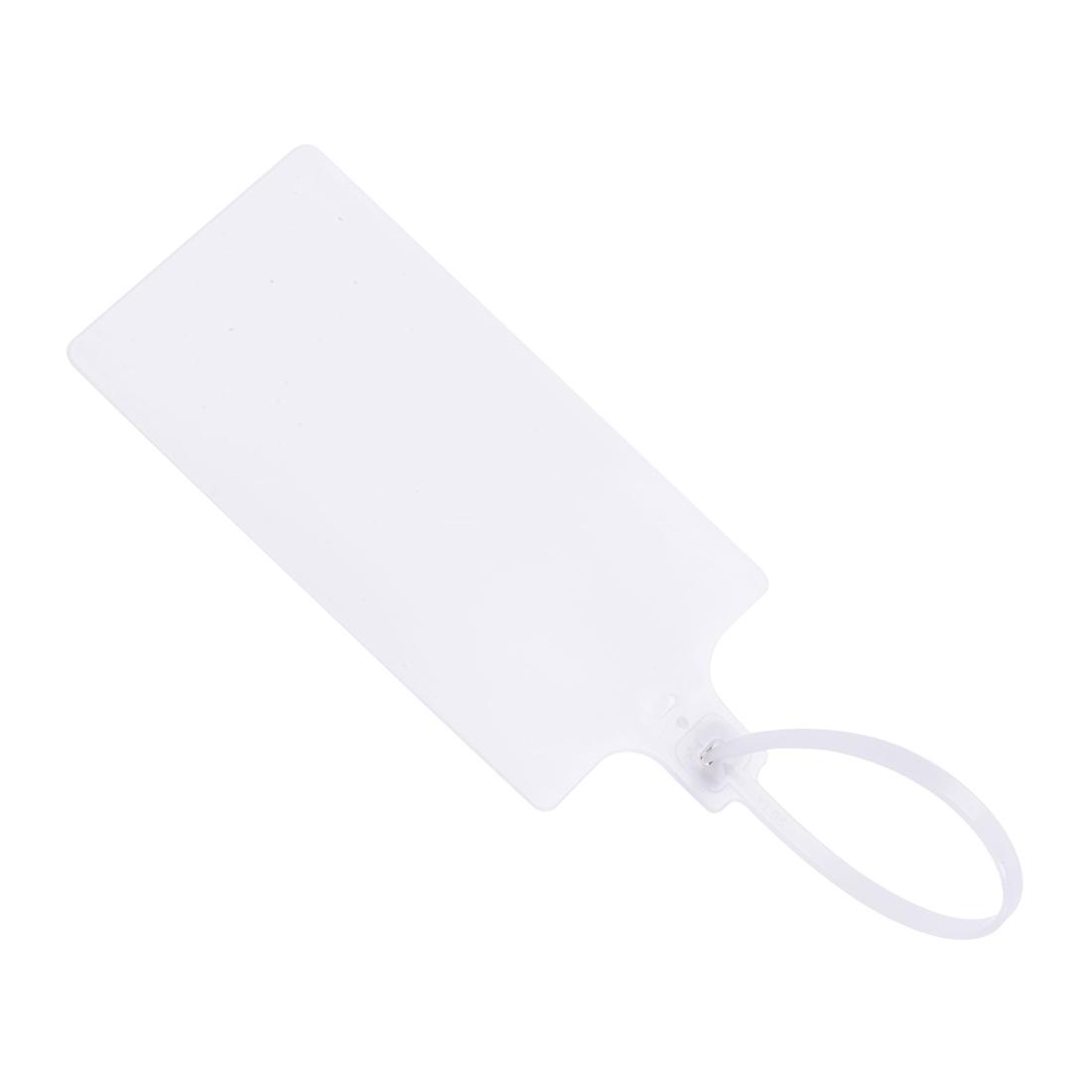 Plastic Zip Ties Seals Anti-Tamper 255mm Length, White, Pack of 20