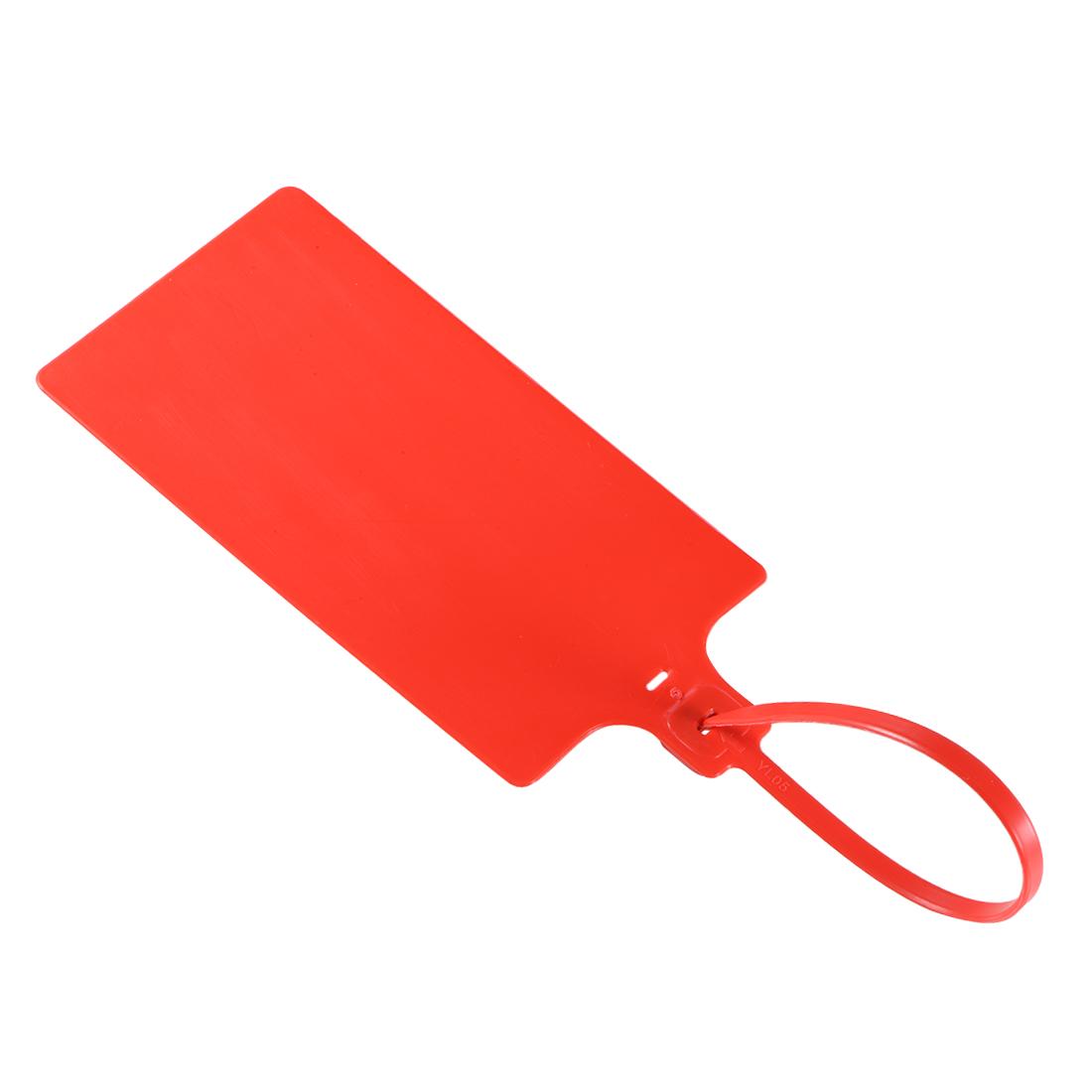 Plastic Zip Ties Seals Anti-Tamper 255mm Length, Red, Pack of 20