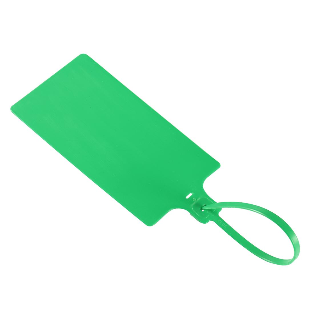 Plastic Zip Ties Seals Anti-Tamper 255mm Length, Green, Pack of 50