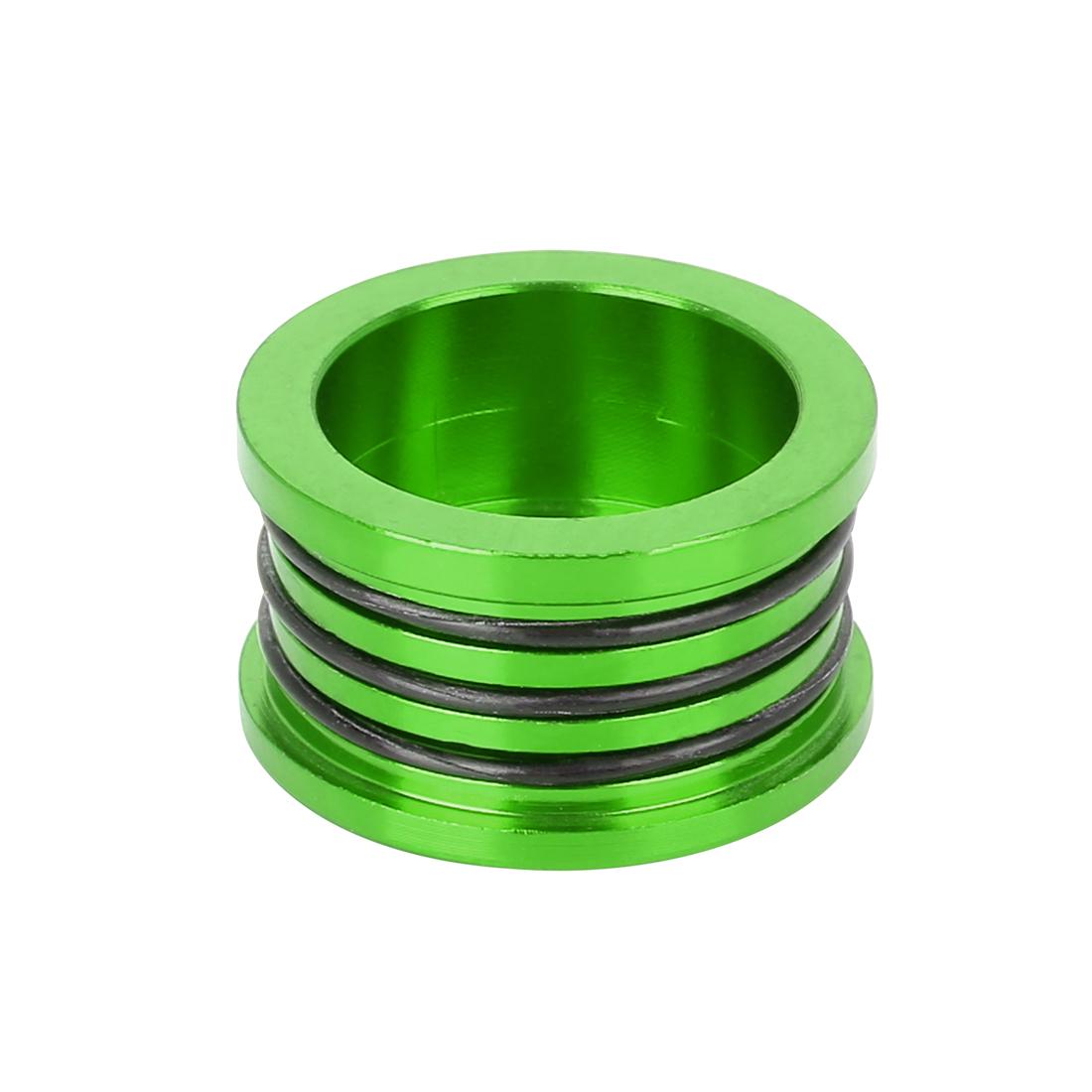 Aluminum Alloy Camshaft Oil Seal Cover Cap O Ring Plug Green for Honda Acura