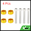 4pcs 6mm Racing Car Aluminum Alloy Cup Washers Bolt Kit Gold Tone Universal